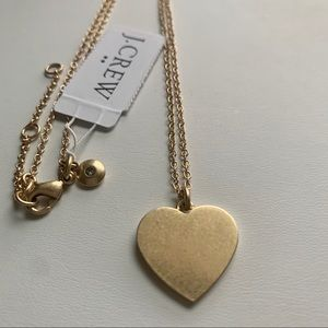 J. Crew Gold Heart Pendant Necklace ❤️